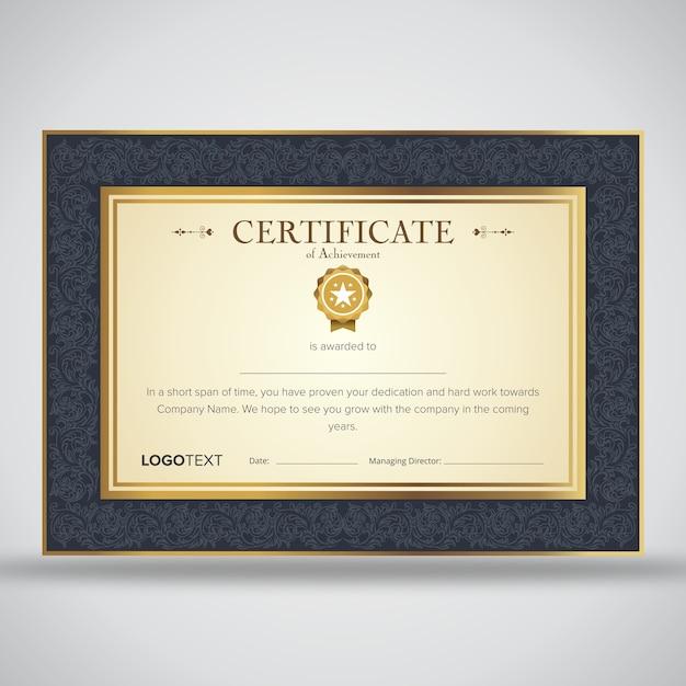 Plantillas de certificado de apreciación con fondo de ornamento ...