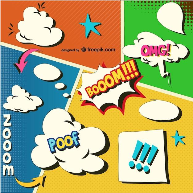 Comic Aun Book Cover Illustration Ver ~ Plantillas de cómic descargar vectores gratis