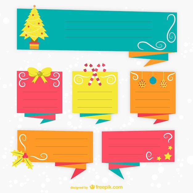 Plantillas de etiquetas de navidad de colores | Descargar Vectores ...