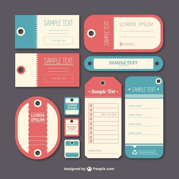 Plantillas de etiquetas vintage | Descargar Vectores gratis