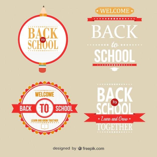 Plantillas de insignias para el colegio Vector Gratis