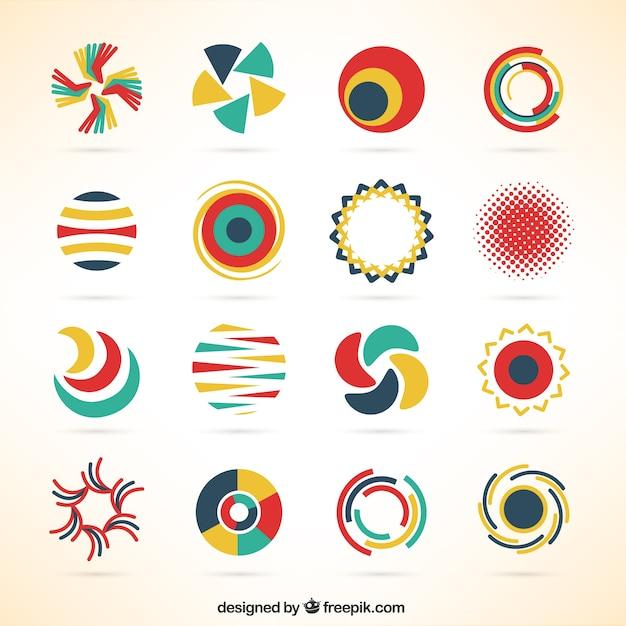 Plantillas de logotipos redondos descargar vectores gratis for Design logo gratis