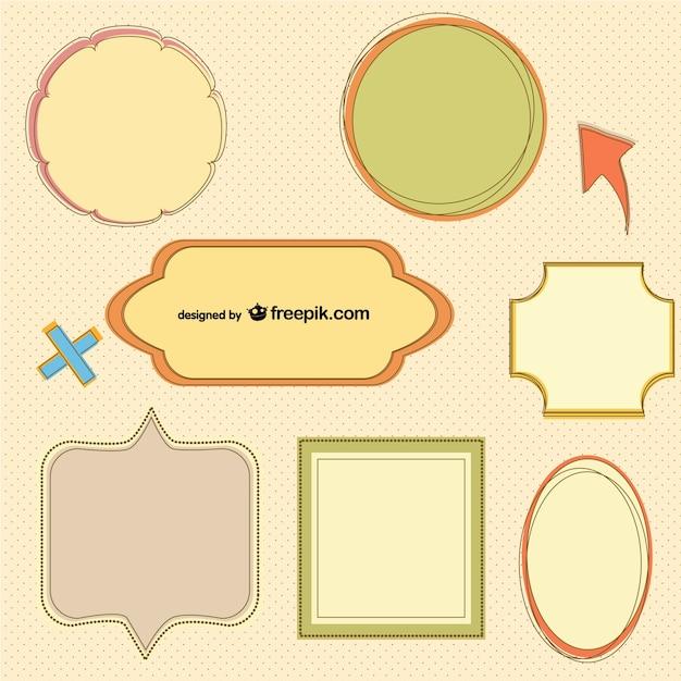 Plantillas de marcos retro | Descargar Vectores gratis