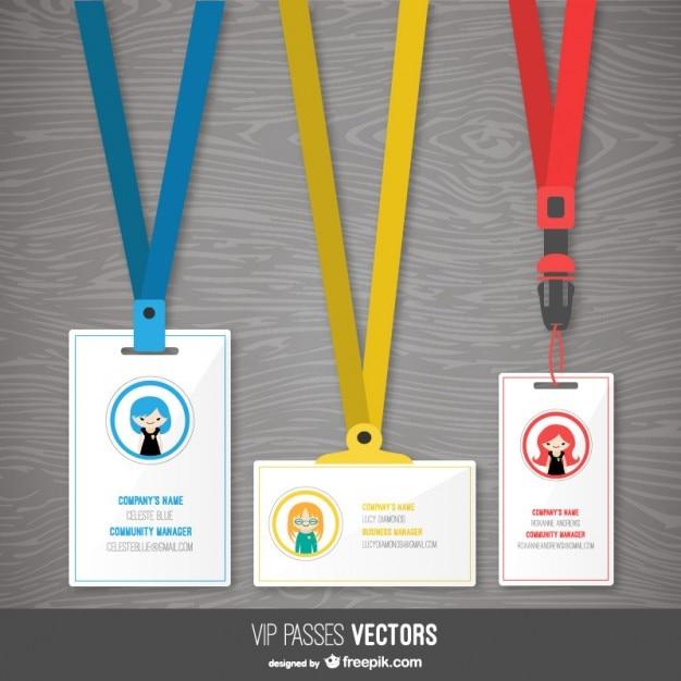 Plantillas de pases VIP Vector Gratis
