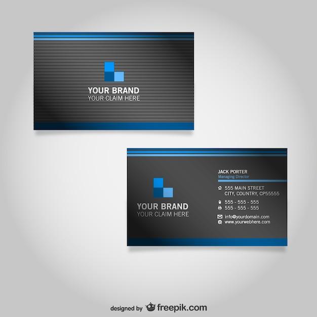 plantillas de tarjetas de visita | descargar vectores gratis