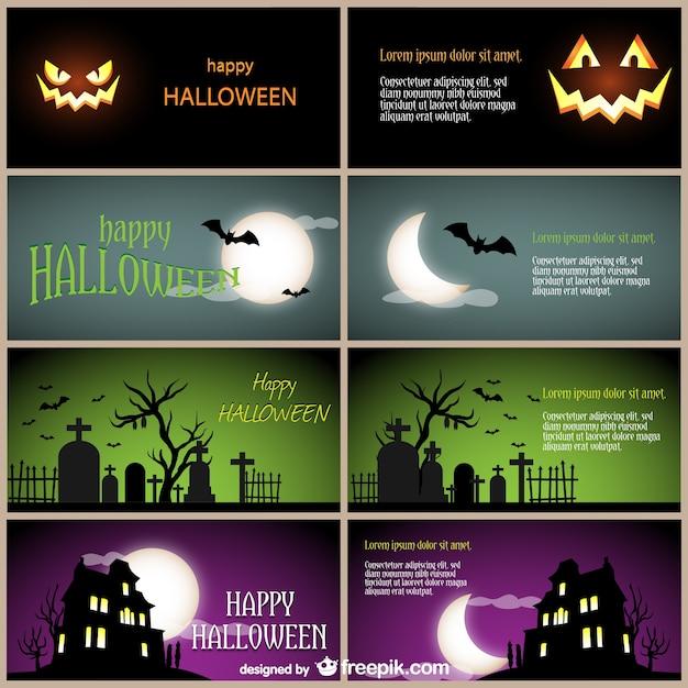 Plantillas de tarjetas para halloween | Descargar Vectores gratis