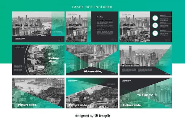 Plantillas de diapositivas vector gratuito