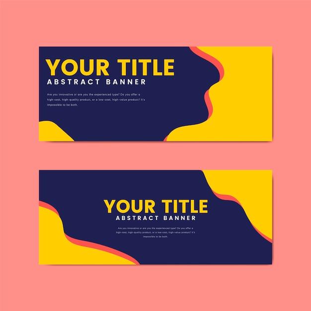 Plantillas de diseño de banner colorido y abstracto vector gratuito
