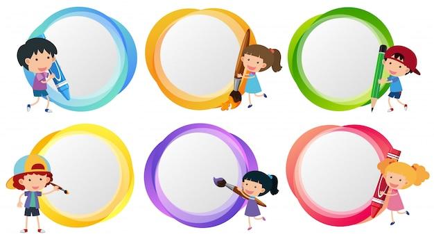 Plantillas de etiquetas con colorante para niños | Descargar ...