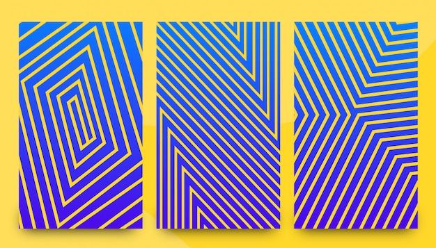 Plantillas de fondo abstracto elegante patrón Vector Premium