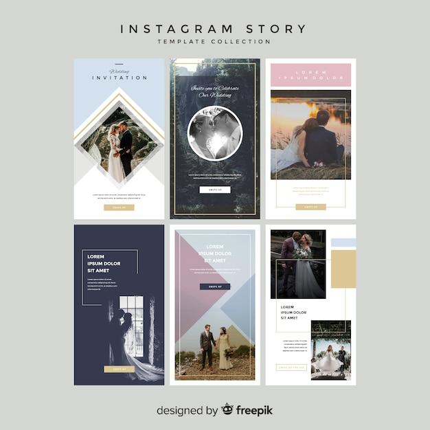 Plantillas de instagram stories vector gratuito
