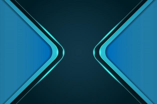 Plantillas de portada de fondo azul moderno 3d Vector Premium