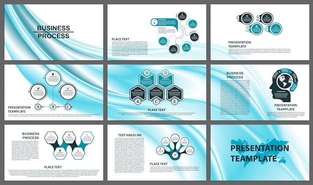 Plantillas de presentación de negocios. Vector Premium