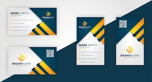 Plantillas de tarjetas de visita modernas creativas Vector Premium