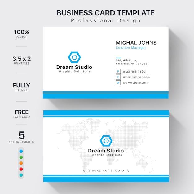 Plantillas de tarjetas de visita Vector Premium