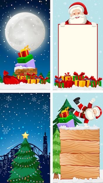 Plantillas con tema de navidad vector gratuito