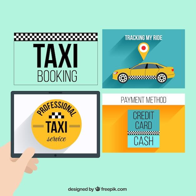 Plantillas web de taxi | Descargar Vectores gratis