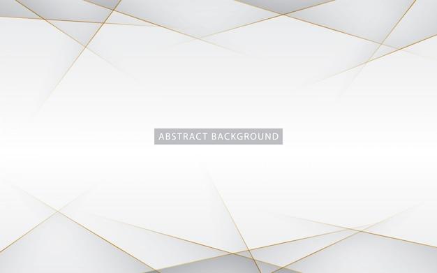 Plata abstracta moderna con oro Vector Premium
