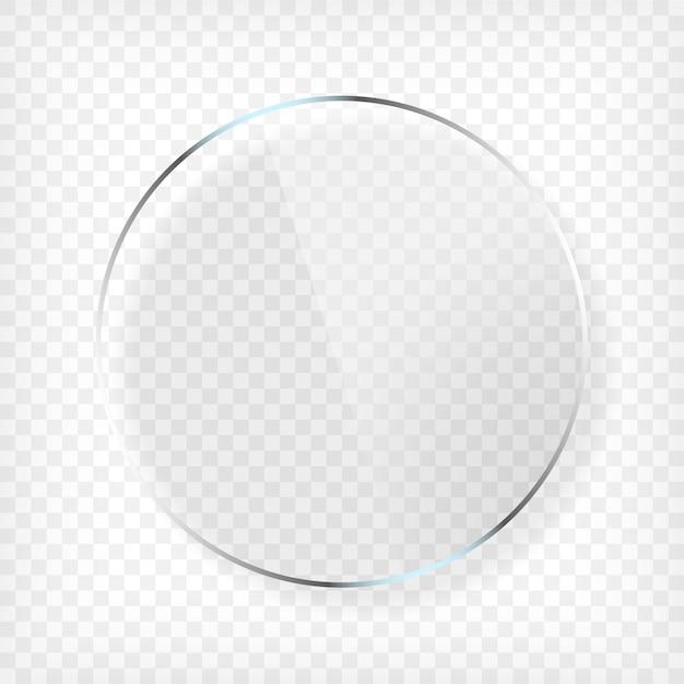 Plato redondo de vidrio con sombra Vector Premium