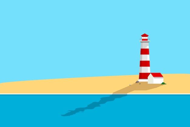 Playa de verano vector gratuito