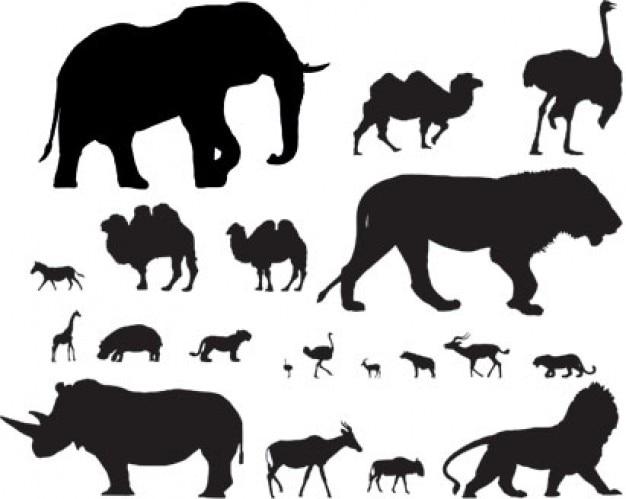 población de vectores animales africanos Vector Gratis
