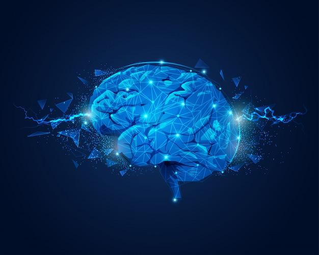 Poder del cerebro Vector Premium