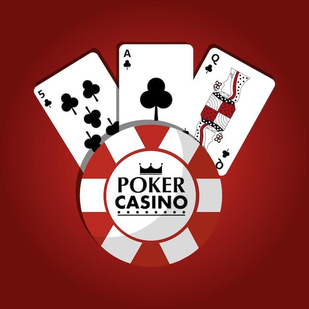 Poker Casino Chip Club Juego Cartas Rojo Descargar Vectores Premium