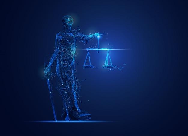 Polígono themis o diosa de la justicia Vector Premium
