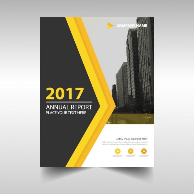 Portada de reportaje anual 2017 abstracto con