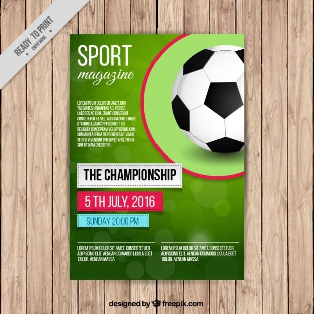 Portada de revista de fútbol | Descargar Vectores gratis