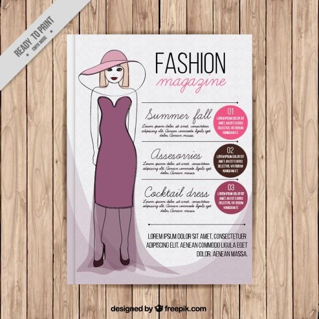 Portada de revista de moda con una modelo descargar Revista fashion style magazine