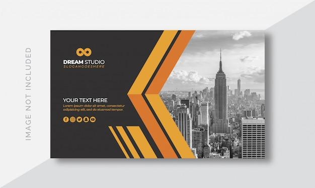 Portada de negocio con imagen. Vector Premium