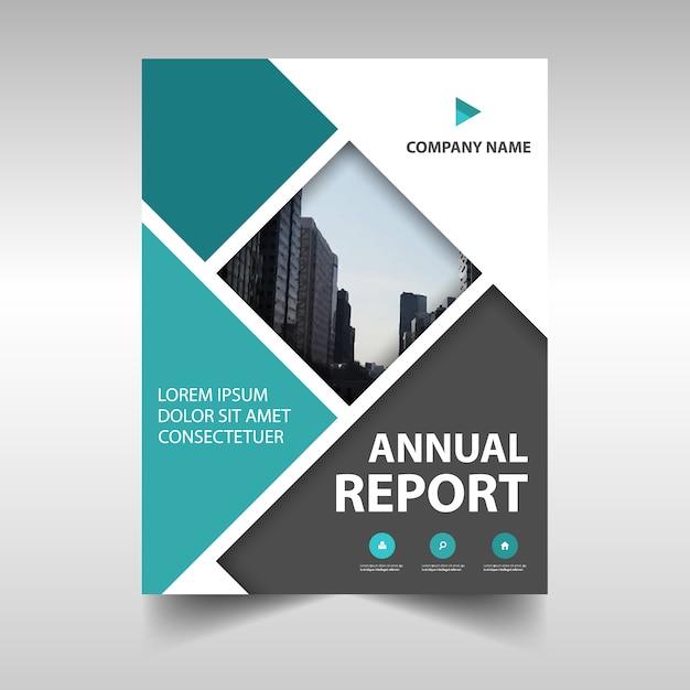 portada de reportaje anual abstracta