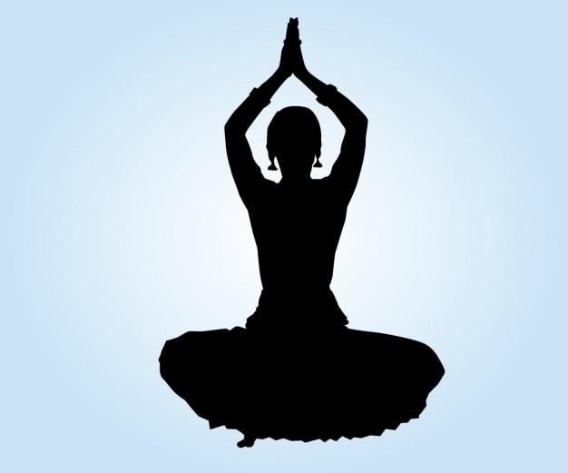 Ubicación Posición Icono Gráficos Vectoriales Gratis: Posición Del Loto De Bailarina India