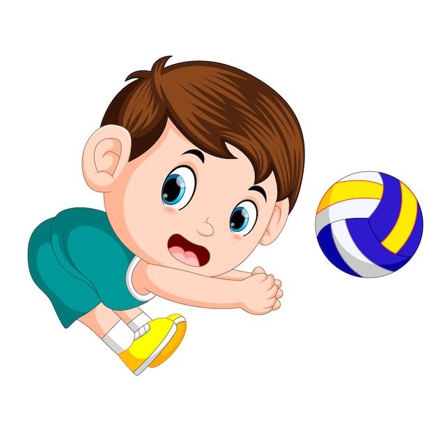 Posiciones del jugador de voleibol Vector Premium