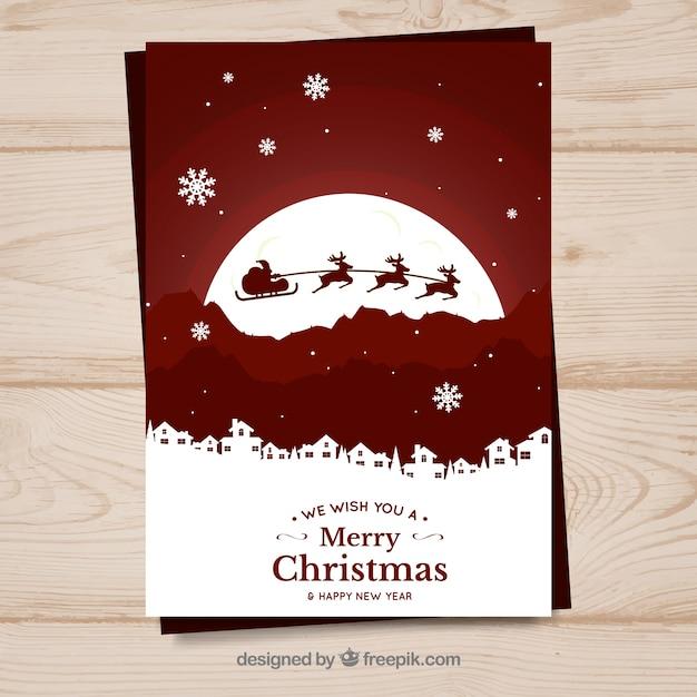 Postal de la Navidad ornamento Vector Gratis