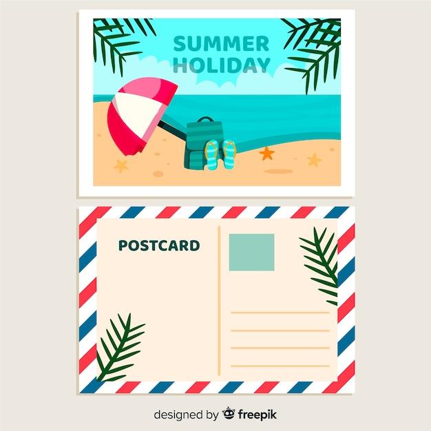 Postal de vacaciones vector gratuito