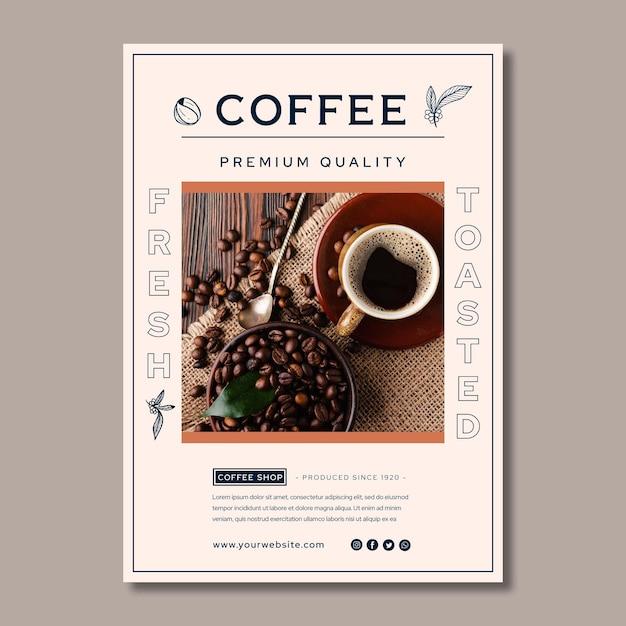 Póster de café de calidad premium vector gratuito