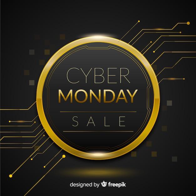 Poster de cyber monday vector gratuito