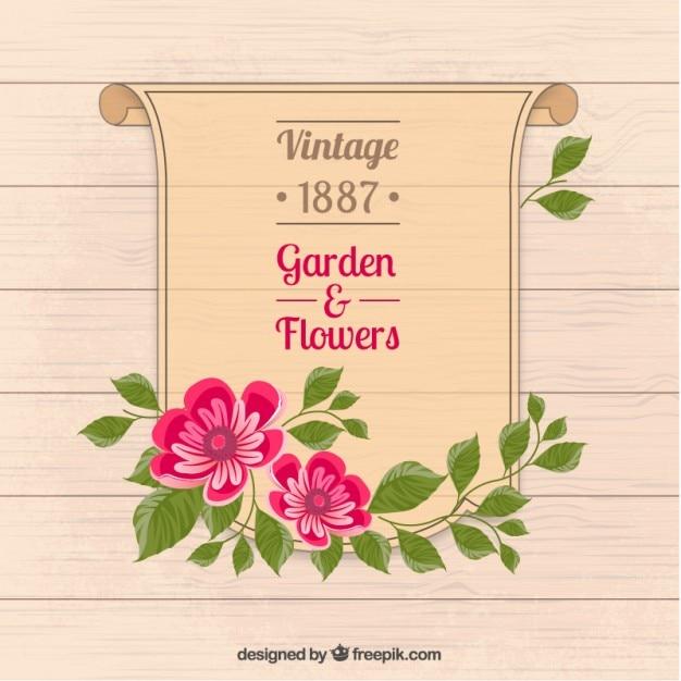 Póster de jardín y flores   Descargar Vectores gratis