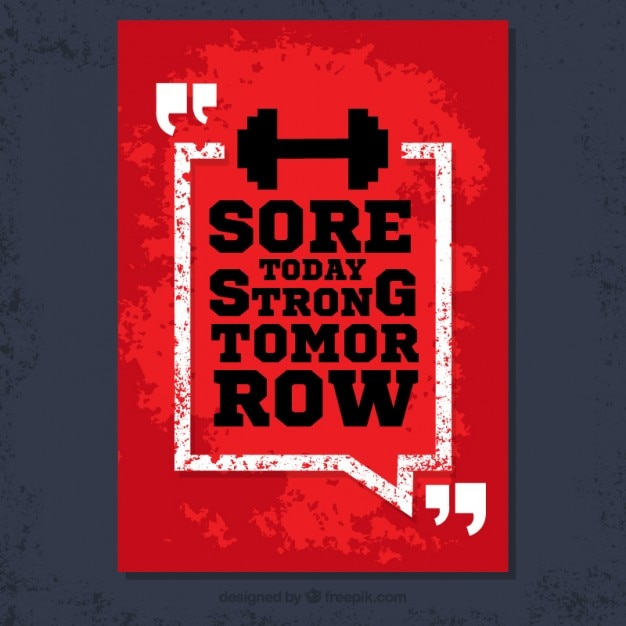 Poster Sucio Con Frase Fitness Vector Gratis