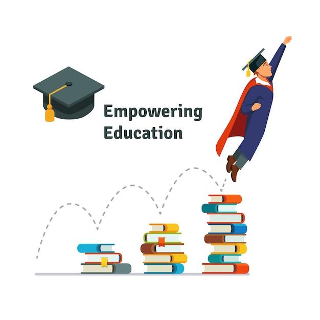 Potenciar la educación vector gratuito