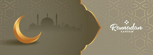 Precioso banner estacional de ramadán kareem hermoso diseño vector gratuito