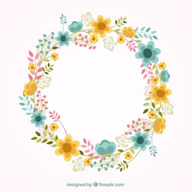 Precioso marco floral descargar vectores gratis