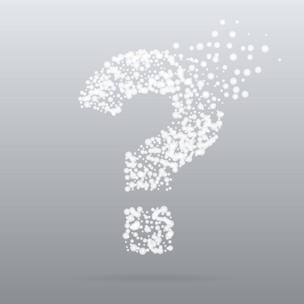 Pregunta concepto creativo en estilo de partículas Vector Premium