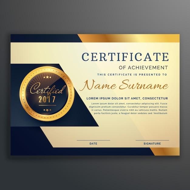Premio de lujo certificado de logro vector de diseño   Descargar ...