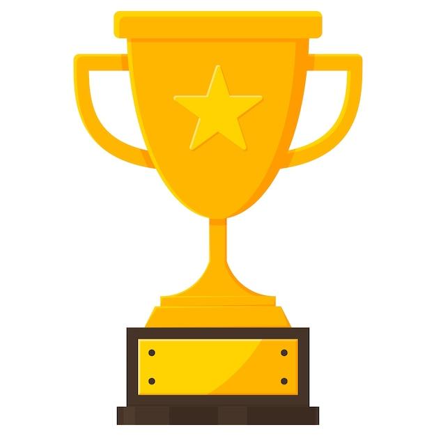 Premio icono de copa de trofeo de campeonato. | Vector Premium