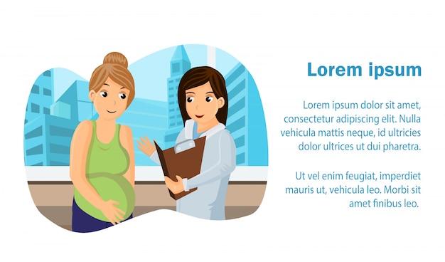 Prenatal medical center web banner Vector Premium