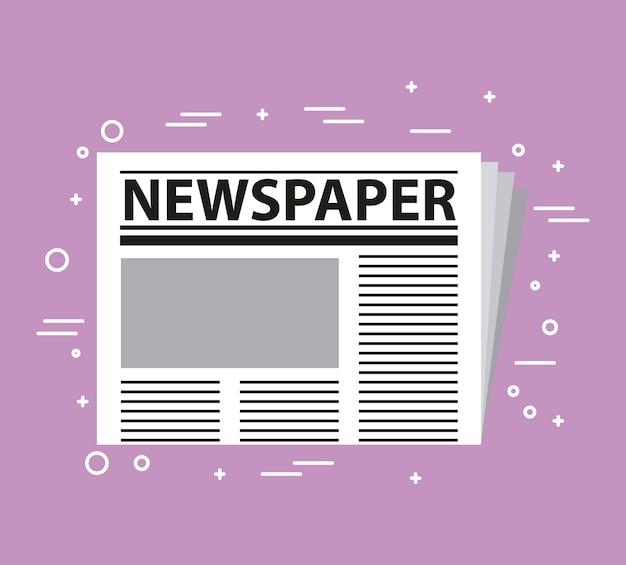 Prensa de periódicos Vector Premium