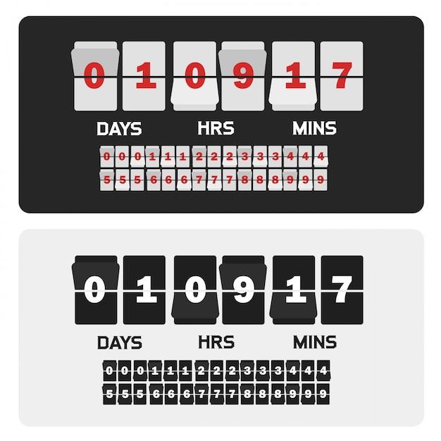 Presentación de eventos contador plantilla venta tiempo Vector Premium